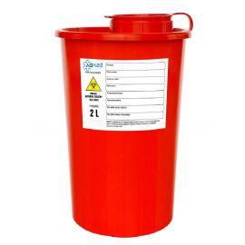 Pojemnik na odpady medyczne 2L WYSOKI