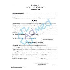 Dokumentacja pacjentki - procedura jednodniowa