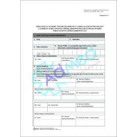 druk_oświadczenie_deklaracja_pielęgniarka_przychodnia_pacjent