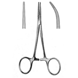 Kleszczyki MOSQUITO  jednorazowe 12,5cm - STERYLNE, METALOWE