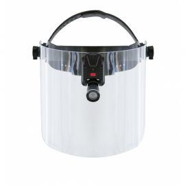 Lampa czołowa LED na przyłbicy ochronnej
