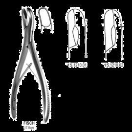 Odgryzacz kostny FISCH odgięty 8mm, długość 17 cm