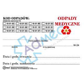 Etykiety na odpady medyczne 4 szt