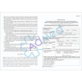 Oświadczenie o prawie do świadczeń zdrowotnych (składane przez opiekuna/przedstawiciela ustawowego) A3-A4