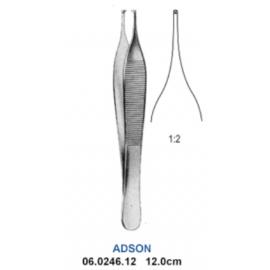 Pinceta Chirurgiczna ADSON 1x2T jednorazowa 12,5 cm - STERYLNA, METALOWA