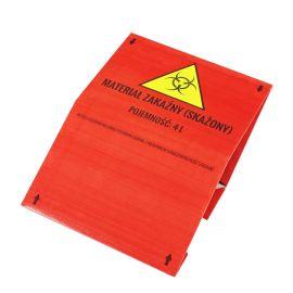 Pojemnik na odpady medyczne 4L karton czerwony