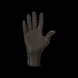 Rękawiczki nitrylowe, bezpudrowe, czarne, kategoria III - zwiększona ochrona, Nitrylex Black, Mercator Medical, op. 100 szt.
