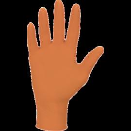 Rękawiczki nitrylowe, bezpudrowe, pomarańczowe, kategoria III - zwiększona ochrona, Nitrylex Orange, Mercator Medical, op. 100 szt.