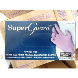 Rękawiczki nitrylowe, bezpudrowe, jasnofioletowe, kategoria III - zwiększona ochrona, Super Guard, Mercator Medical - op. 100 szt.