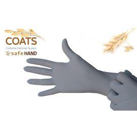 Rękawiczki nitrylowe, bezpudrowe, z wyciągiem z owsa, popielate (szare), Safe Hand Coats, Safemed, op. 100 szt.